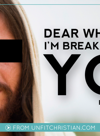Dear White Jesus: I'm Breaking Up With You